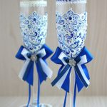праздничный декор украшение бокалов дизайн идеи