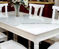 прозрачная скатерть на стол