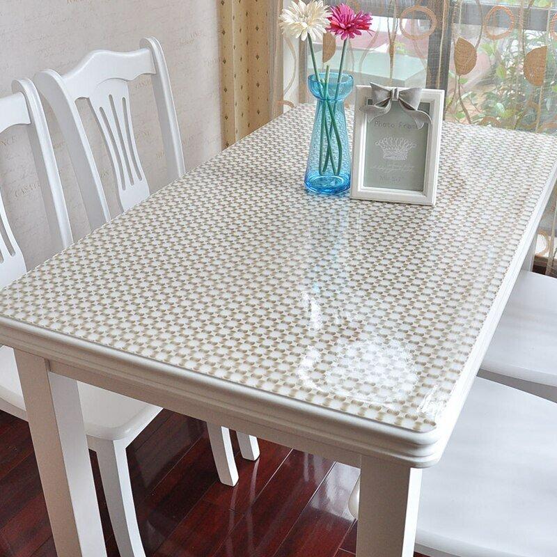 прозрачная скатерть кленка на стол