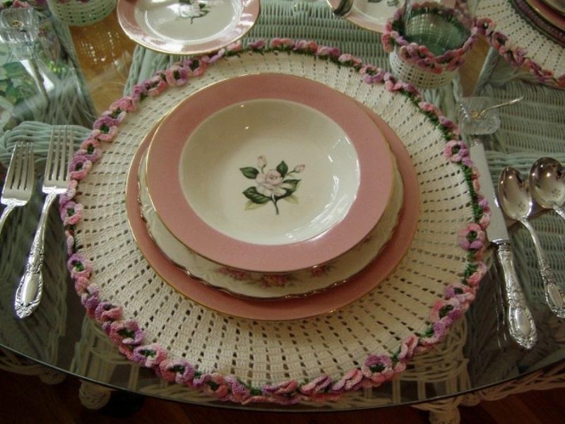 салфетки подложки для тарелок фото