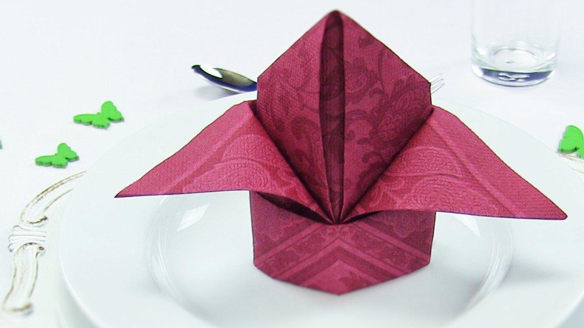 салфетка тюльпан