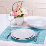 сервировочные салфетки коврики для тарелок декор идеи