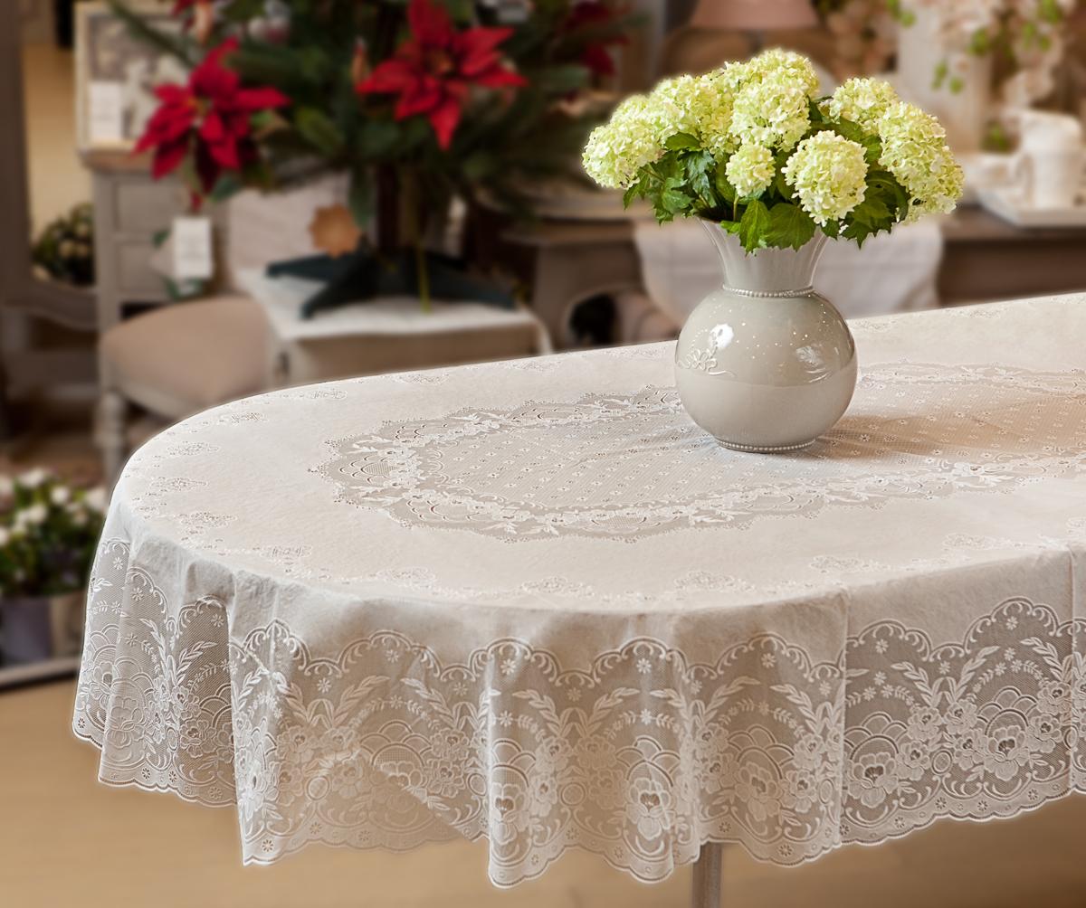 силиконовая скатерть на овальный стол