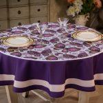 скатерть для круглого стола фиолетовая
