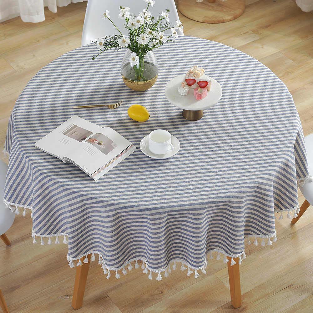 скатерть на круглый стол из хлопка