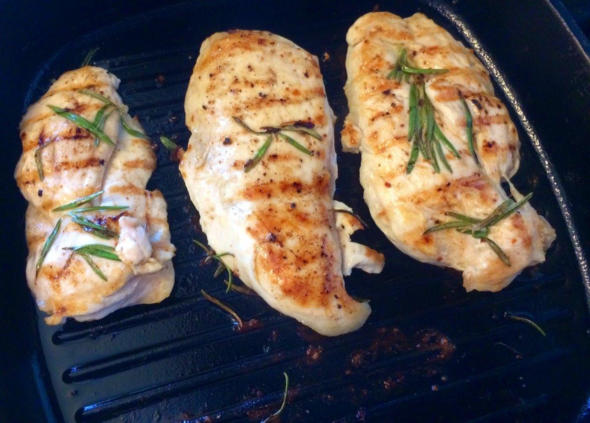 сковорода гриль курица