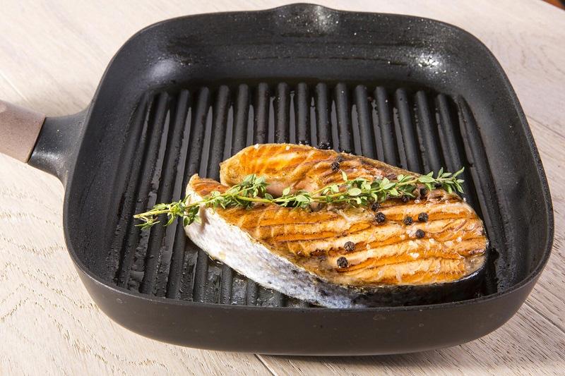 сковорода гриль рыба
