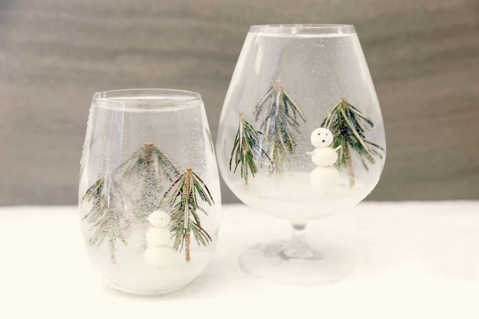 снежные бокалы