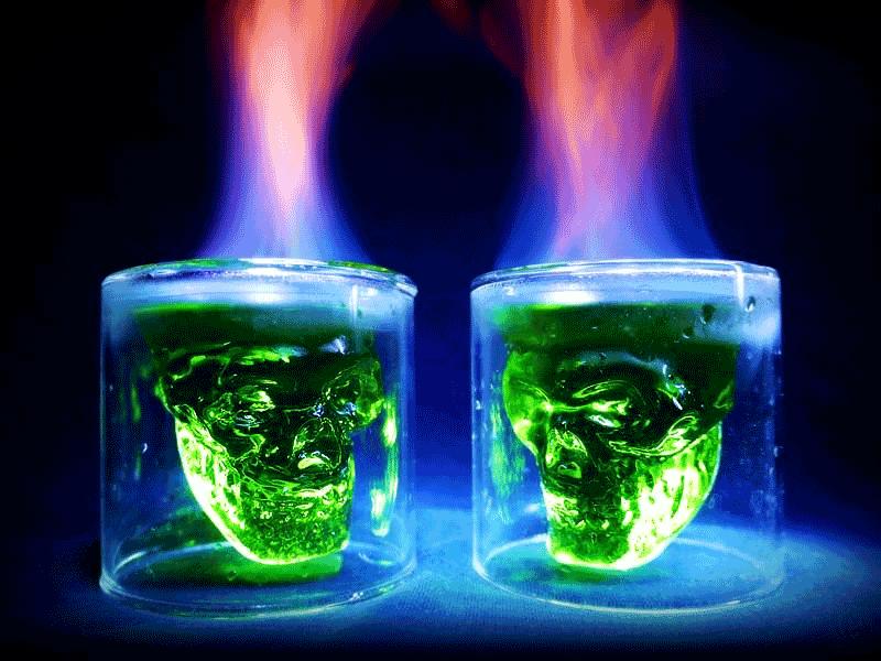 стаканы 3д черепа