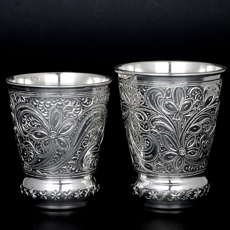 стаканы из серебра