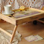 столик для завтрака в постель идеи видов