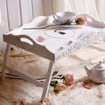 столик для завтрака в постель оформление идеи