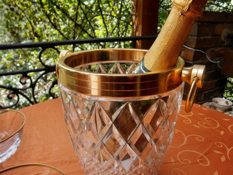 хрустальное ведерко для шампанского