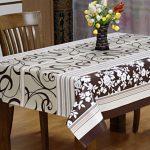 водостойкая скатерть на стол для кухни дизайн идеи
