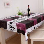 водостойкая скатерть на стол для кухни идеи дизайна