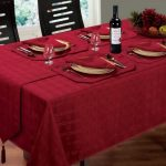 водостойкая скатерть на стол для кухни оформление фото