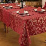 водостойкая скатерть на стол для кухни фото оформление