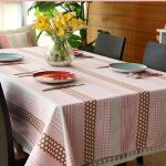 водостойкая скатерть на стол для кухни фото вариантов
