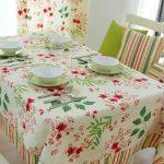 водостойкая скатерть на стол для кухни виды фото