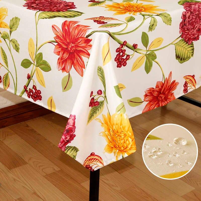 водостойкая скатерть для кухонного стола