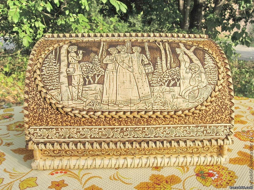 хлебница из бересты дизайн