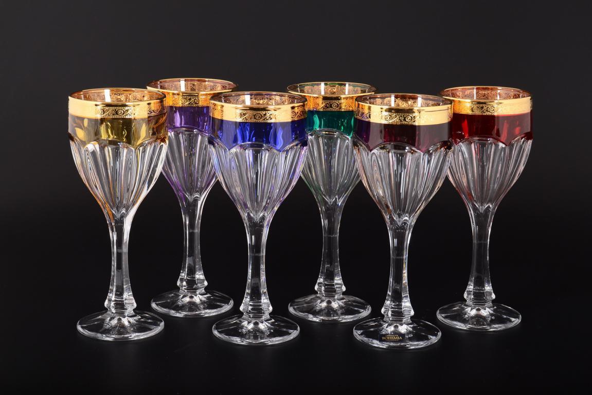 Цветные бокалы Богемия