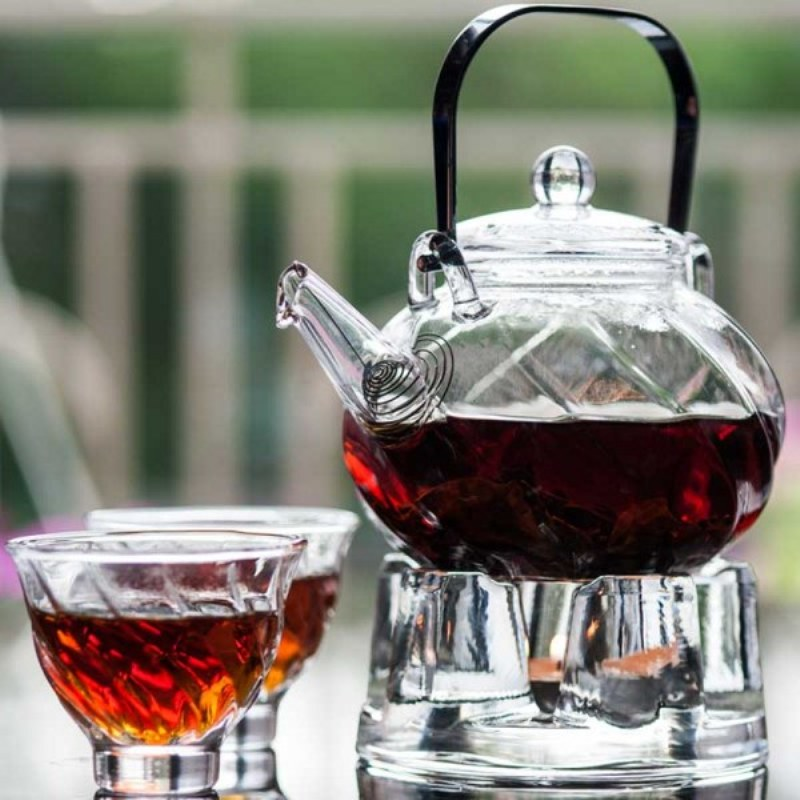 заварочный чайник с подогревом YAMA Glass