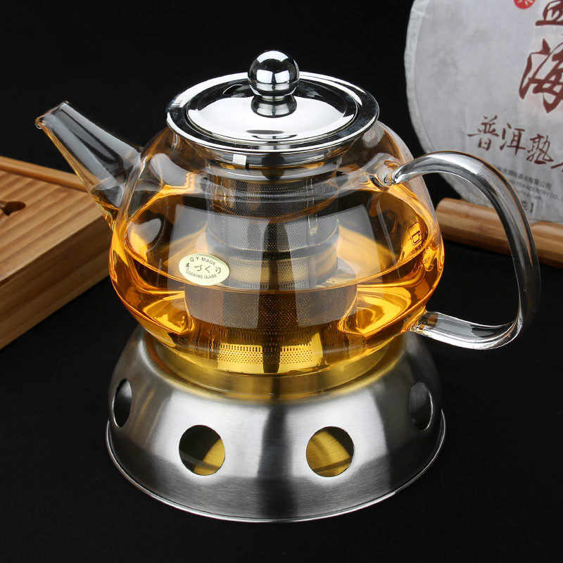 металлический заварочный чайник с подогревом