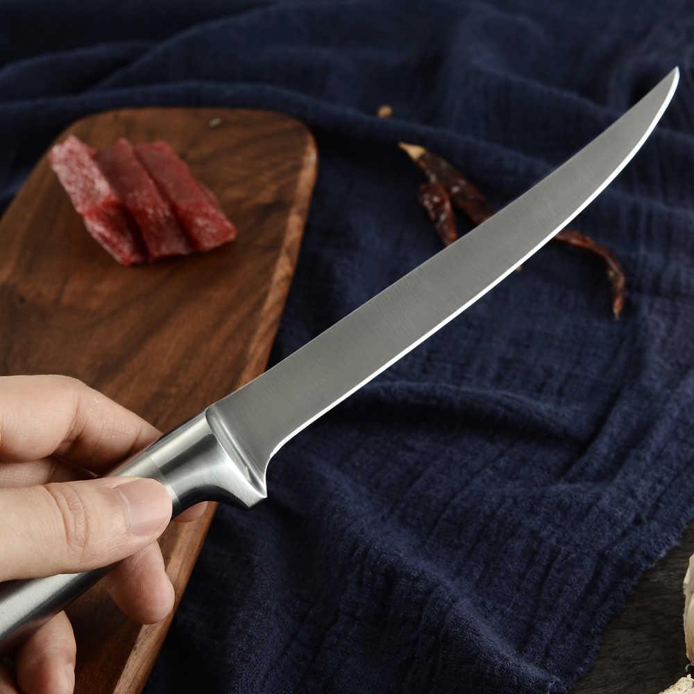 нож для рыбы из дамасской стали