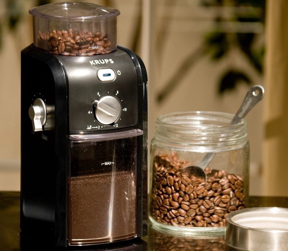 кофемолка жерновая электрическая