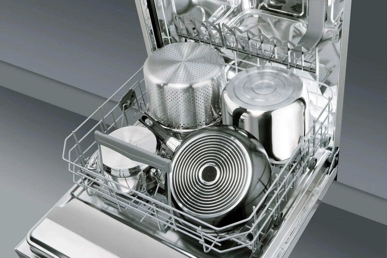 Посуда в посудомойке