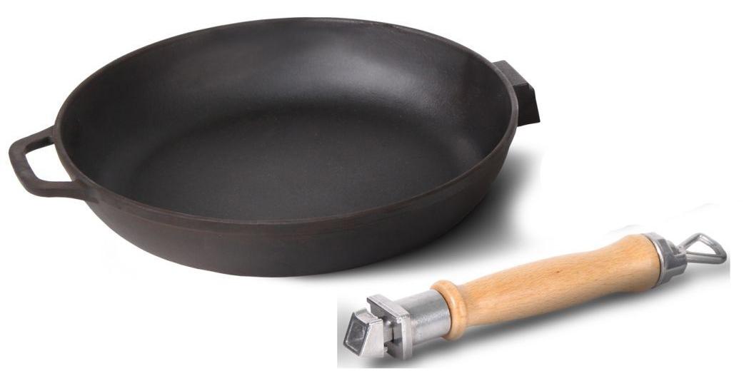 Сковорода с ручкой зажимного типа
