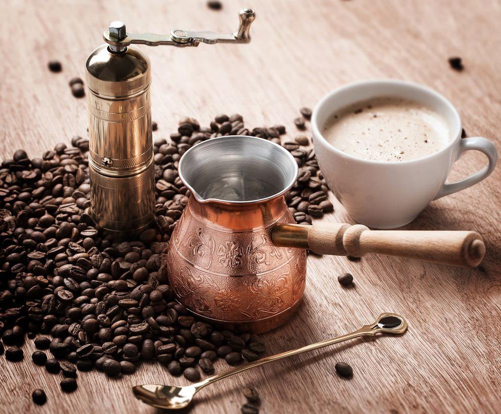турка медная для кофе