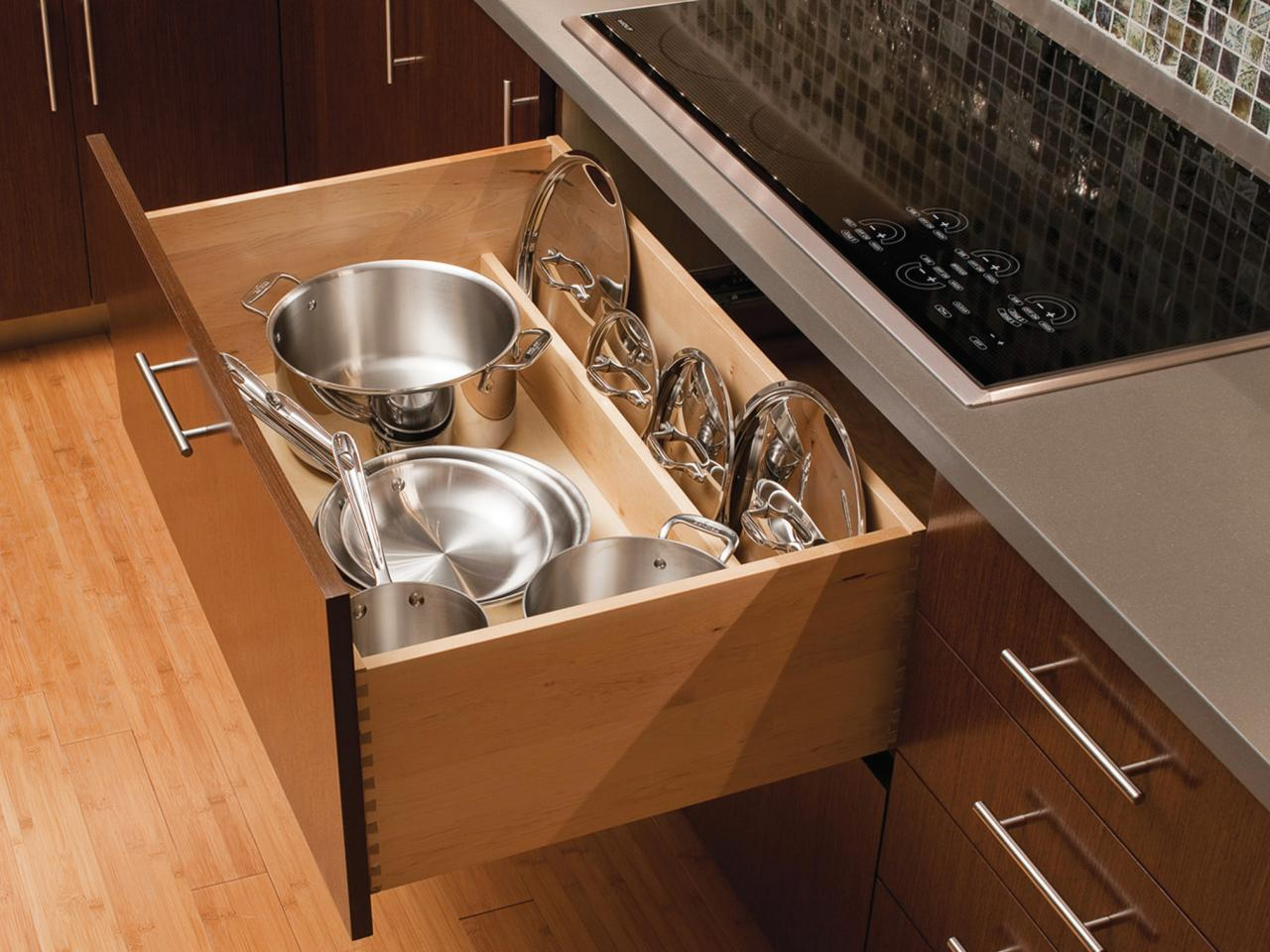 выдвижной ящик для посуды