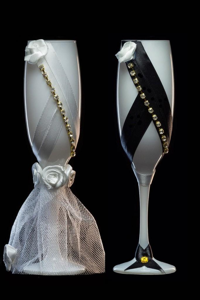 бокалы жених и невеста