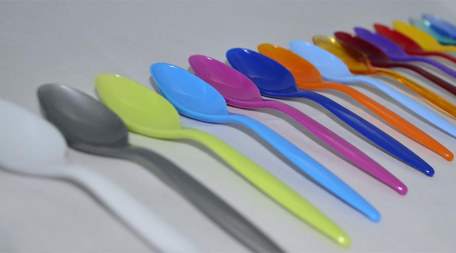 цветные десертные ложки