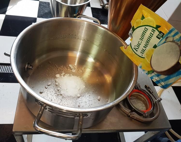 как очистить кастрюлю лимонной кислотой