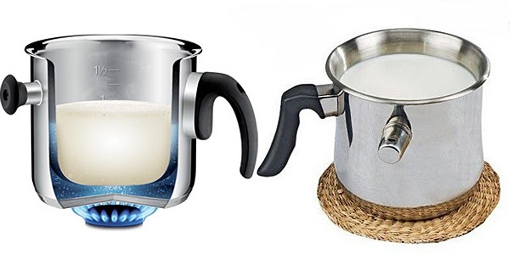 молоковарка с двойным дном
