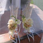 свадебный декор бокалов идеи
