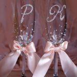 свадебный декор бокалов дизайн