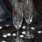 свадебный декор бокалов оформление
