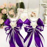 свадебный декор бокалов варианты идеи