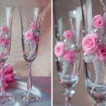свадебный декор бокалов фото виды