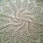 салфетка спицами декор фото
