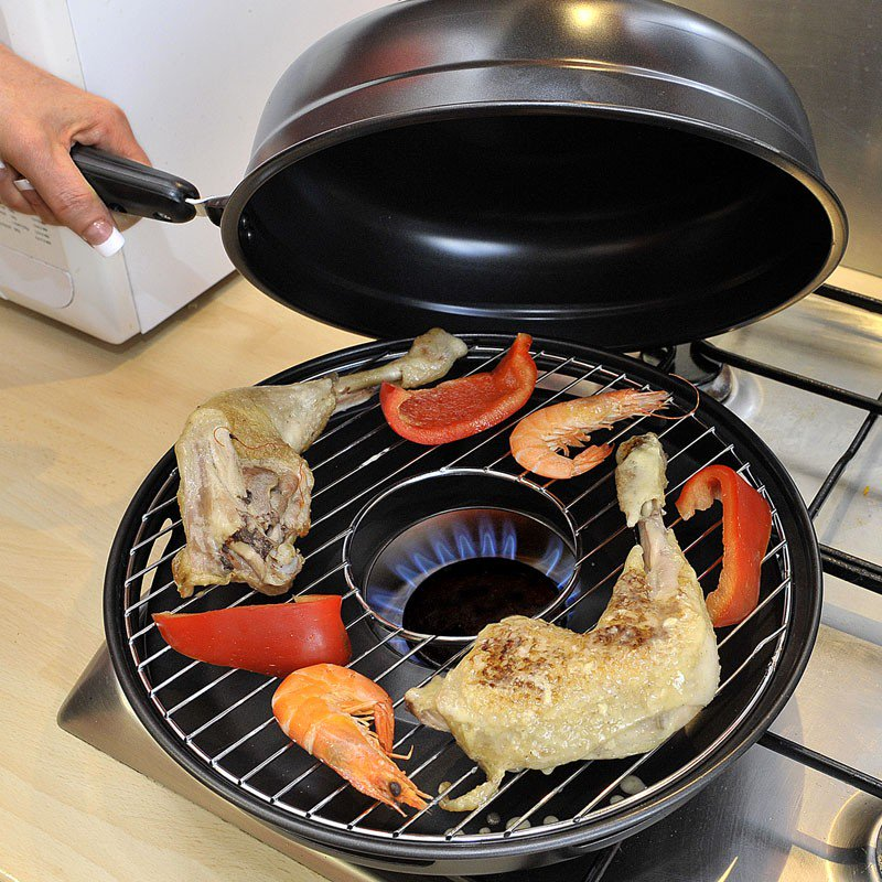 сковорода гриль газ с крышкой
