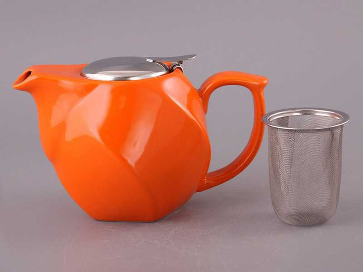 заварочный чайник оранжевый
