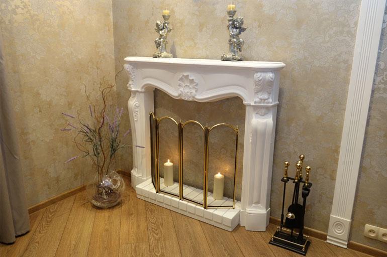 Декоративный камин в квартире