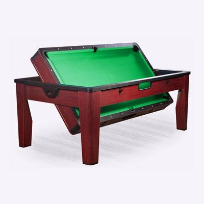 <p><b>Игровой стол «6 в 1» DBO Tornado</b><p> Переоборудуется для игры в покер, теннис, аэрохоккей, бильярд, рулетку или для приема пищи. В комплекте несколько столешниц разного размера, ракетки, 2 колоды карт и другие аксессуары. <p> Цена – 81522 руб.