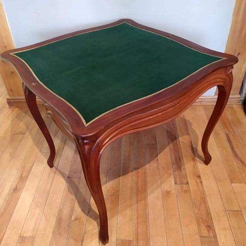 Классический ломберный стол с сукном