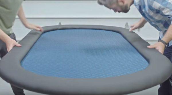 Соединение игровой поверхности с бортиком